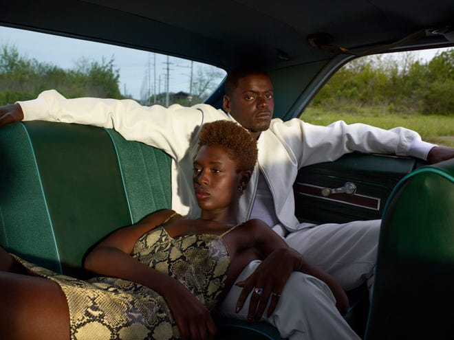 "Jodie Turner-Smith and Daniel Kaluuya star as a young couple on the run after their first date, when a police traffic stop turns deadly in the romantic thriller ""Queen & Slim."""