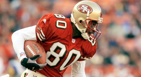 Jerry Rice is a three-time Super Bowl champion and holds the NFL records in all-purpose touchdowns (208), total receptions (1,549), total receiving yards (23,546) and touchdown receptions (197).