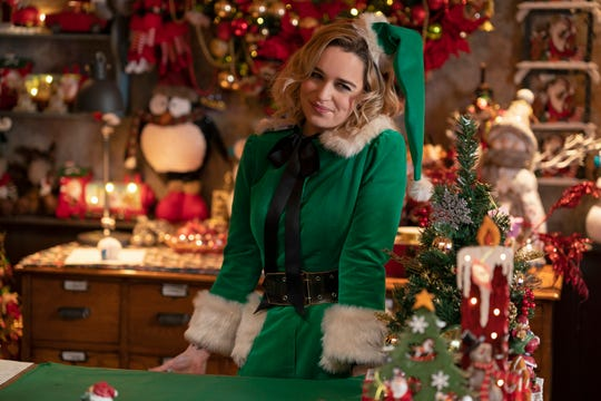 "Kate (Emilia Clarke) is an unlucky woman whose life starts to turn around when she takes a job as a department-store elf in the romantic comedy ""Last Christmas."""
