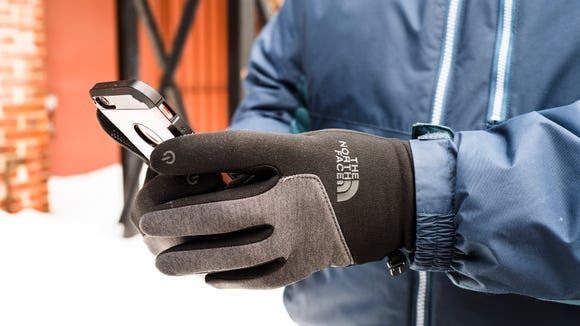 These North Face gloves work with all five digits, not just the thumb and index finger.