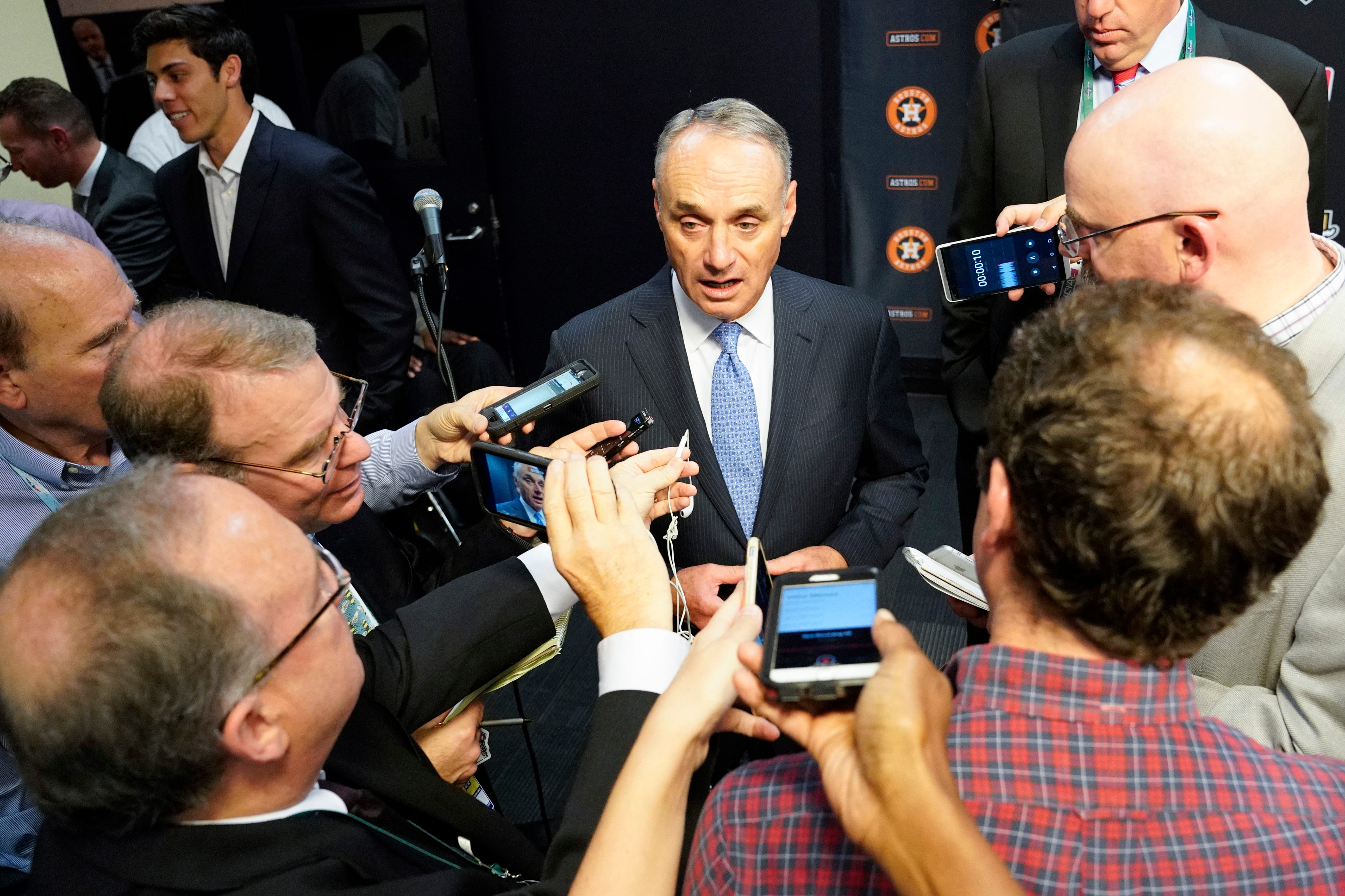 MLB commissioner Rob Manfred on Astros controversy: We have to be tremendously concerned