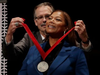 Harvard awards Queen Latifah medal for contributions to black history, culture