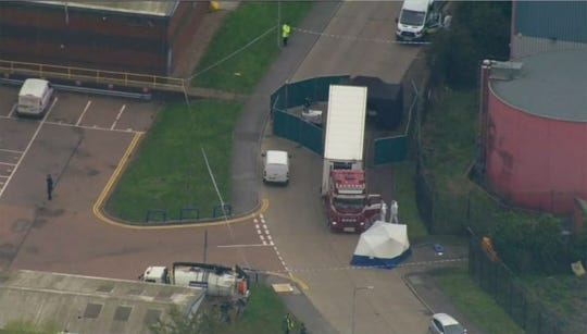 Westlake Legal Group eac701d9-5739-407c-b682-c6ec9de73c1b-AP_Britain_Truck_Bodies_Found 39 people have been found dead in a truck container in southeast England, UK police say
