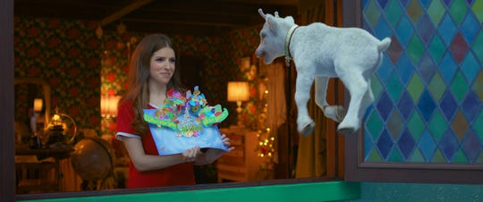 "Santa's daughter Noelle (Anna Kendrick) hangs with little reindeer Snowcone and needs to also save Christmas in the Disney+ holiday comedy ""Noelle."""