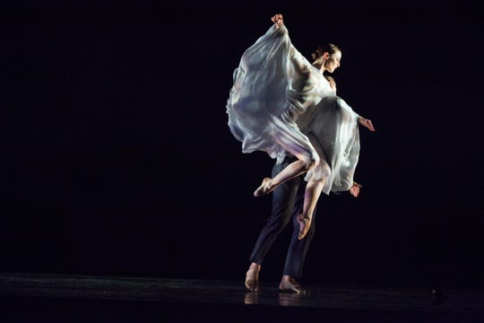 """RIOULT Dance NY peforms """"Te Deum."""" The dance company will perform """"From Purple to Part"""" at 7 p.m. Thursday at the Coughlin-Saunders Performing Arts Center."""