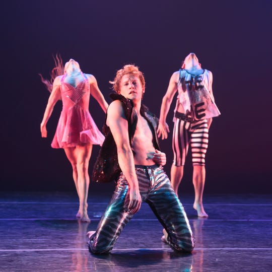"""RIOULT Dance NY performs """"Fire in the Sky.""""  The dance company will perform """"From Purple to Part"""" at 7 p.m. Thursday (Oct. 24) at the Coughlin-Performing Arts Center."""
