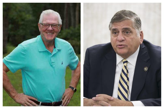 Ocean County sheriff candidates: Democrat Gene Davis (left) and Republican incumbent Michael G. Mastronardy (right).