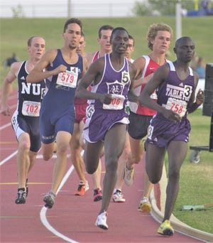 John Kemboi (5) was surprised when he found out he was being inducted into the ACU Sports Hall of Fame after a great track career with the Wildcats.
