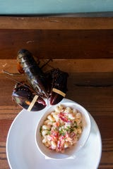 Lobster macaroni and cheese can be found at The Lobster Trap in downtown Asheville. The Lobster Trap will be a competitor at the Asheville Mac Attack at the Salvage Station on Nov. 10, 2019.