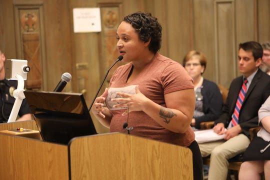 Nicole Townsend speaks at a City Council meeting. Townsend has announced her candidacy for the 2020 council race.