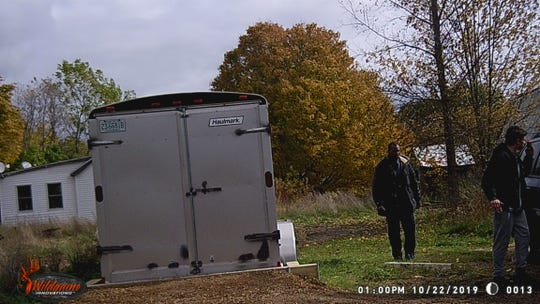 Sheriff department deputies are looking for this trailer and the people who stole it.