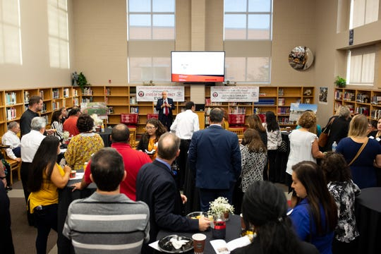 The West Oso Independent School District hosted their state of the district breakfast at the West Oso High School library on Thursday, Oct. 24, 2109.