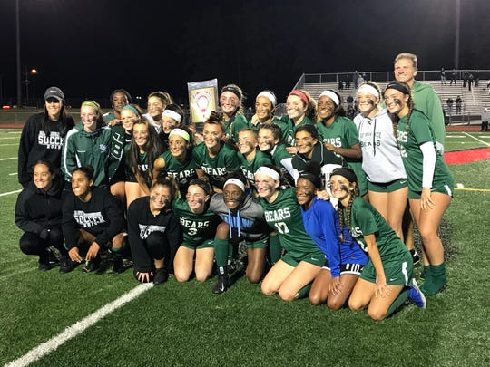 The top-seeded East Brunswick girls soccer team won its 36th GMC Tournament title with a 1-0 victory over No. 2 Old Bridge on Wednesday, Oct. 23, 2019.