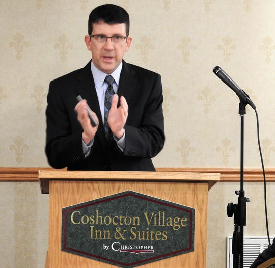 David Brillhart discusses Coshocton Promise at the recent Coshocton Foundation annual meeting. The program started last year fills in the tuition gaps for students of Coshocton County pursuing an education at any COTC campus or online.