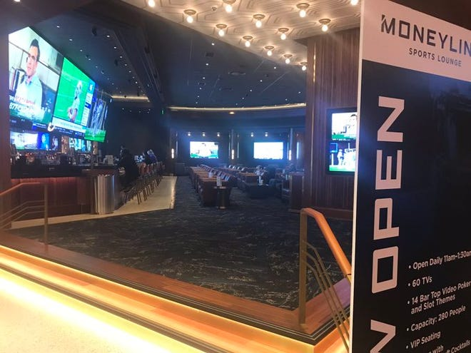 The new Moneyline Sports Lounge at MGM Grand Detroit.