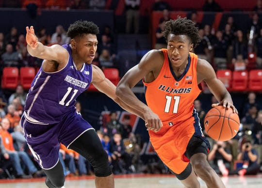 Illinois is built around highly touted 6-foot-5 sophomore guard/forward Ayo Dosunmu, right, who averaged 13.8 points per game last season.