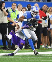 Receiver Marvin Hall has four catches for 152 yards with the Lions.
