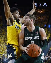 Kyle Ahrens likely will open the season as Michigan State's starting shooting guard following the injury to Joshua Langford.