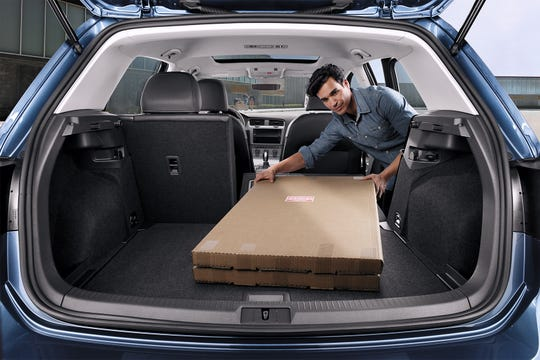 From the start, the Golf has offered an expansive cabin for a vehicle of its size. There's 93.5 cu-ft of interior room, 16.5 cu-ft of cargo space up to the parcel shelf, and 22.8 cu-ft. to the roof.