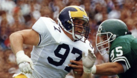 Chris Hutchinson was a defensive lineman with the Wolverines from 1988-1982.