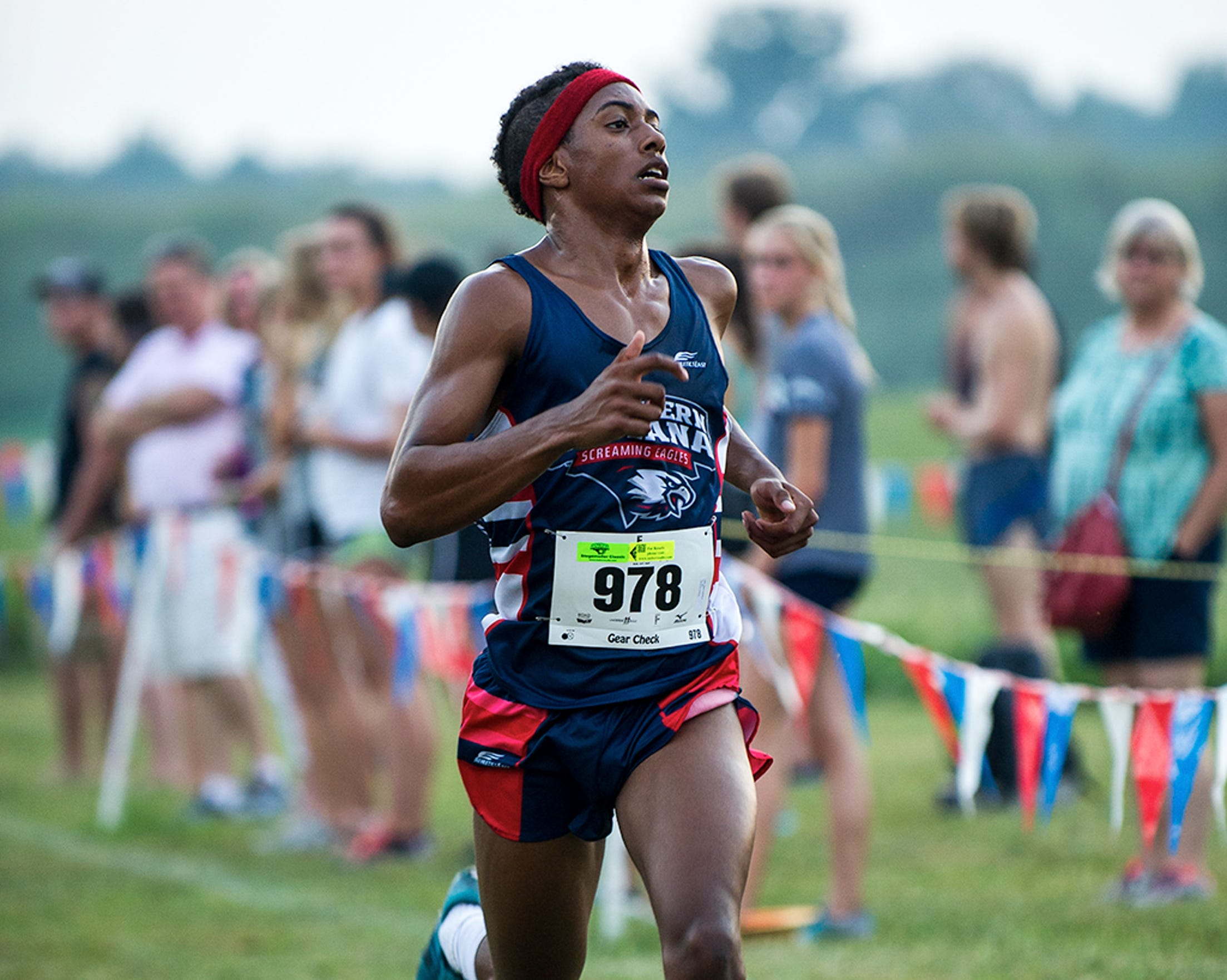 USI senior Darin Lawrence is back on the cross country team this season after sitting out last year to focus on his mental health.