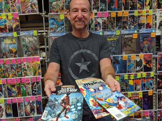 Guests visiting Rupp's Comics Saturday will have the option to claim free comics from Marvel, D.C., Nickelodeon and more. Store owner Chris Rupp shows off some of the selection available for young children, teens and adults.