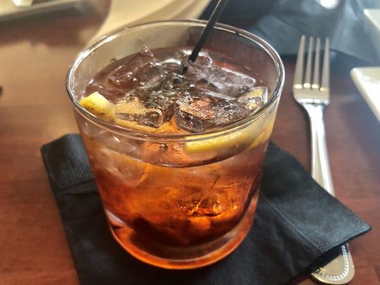 A properly stirred negroni, a classic Italian aperitif cocktail, from Zino Ristorante in Estero.