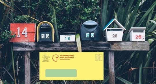 An example of what the letters going out in the US Mail look like.