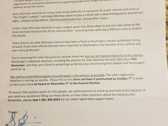 The Democratic Attorneys General Association sent this letter to 80,000 Mississippians, saying they are not registered to vote. It's caused confusion among many voters who were registered.