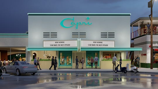The old Capri Theater in Fondren is going to be renovated as part of a massive development project announced Thursday, Oct. 24, 2019, by Robert St. John.