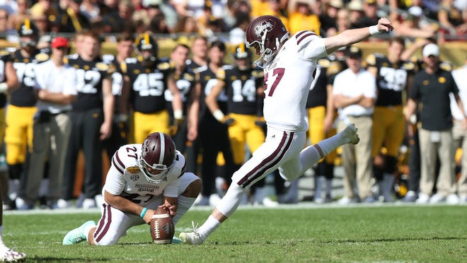 Mississippi State junior kicker Jace Christmann announced he will be a graduate transfer to UF.