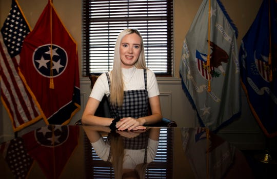 Senior Union University student Madison Kennedy is a student trainee for US attorney Michael Deunavant at Ed Jones Federal Building in Jackson, Tenn., Wednesday, Oct. 23, 2019.