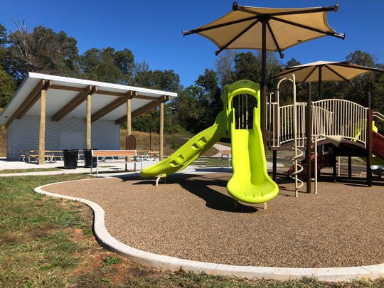 A new playground and picnic shelter have been added during the recent expansion of I.C. King Park South Knoxville.