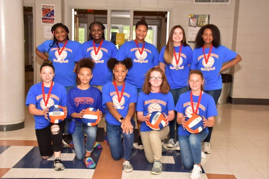 The Holston JV volleyball team recently was named runner-up in the district tournament. Team members pictured are: (front) Hope Spangler, Makayla Rose, Kalysta Brittion, Taylor Wallace, Jaydica Powell; (back) Ari Ajia Gadison, Deyonce Glover, Harmony Watts, Laila Kordonis and Nadia Stephens.