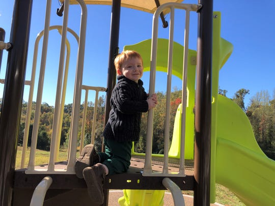 The new playground equipment at I.C. King Park in South Knoxville was unveiled on Thursday, Oct. 24, 2019.
