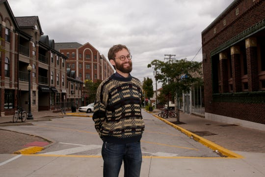 Zach Baiel, independent candidate for West Lafayette Mayor, stands for a photo, Wednesday, Oct. 16, 2019 in West Lafayette.
