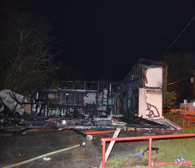 A fire destroyed a vacant bar that was formerly home to Good Ole Boy's Hookah Bar on Oct. 24.