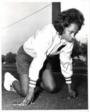 Karen Dennis won an AIWA national title as an MSU sprinter, then went on to coach the Spartans' women's track team.