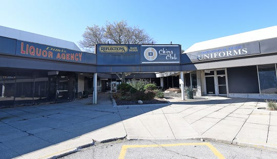 This once popular corner of the West Park Shopping Center is now completely vacant.