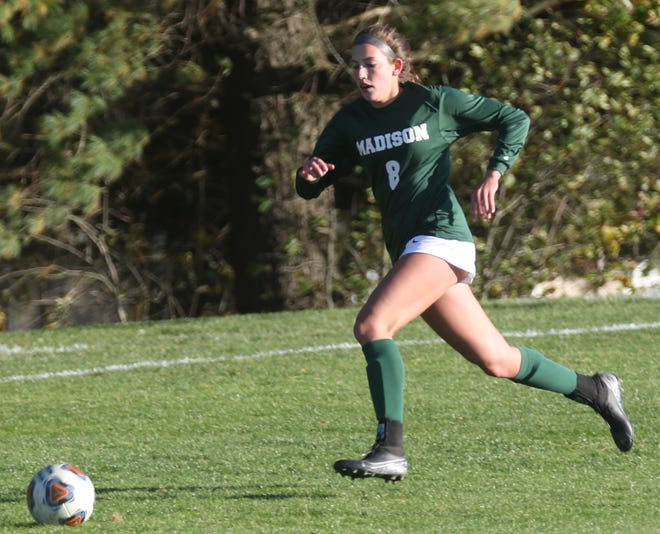 Madison's Chesney Davis scored two goals in the district title game against Ontario after scoring just three all season posting her biggest game of the year.