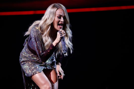Carrie Underwood performs at the FedExForum on Wednesday, Oct. 23, 2019.