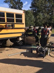 A Morehouse Parish school bus was struck by a van on Thursday afternoon. The van driver was airlifted to Shreveport with serious injuries. The bus driver was taken to the hospital by ambulance.