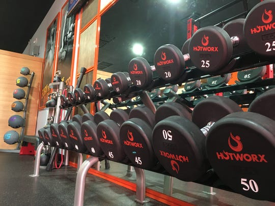 Hotworx in east Montgomery features a weight area and gym.