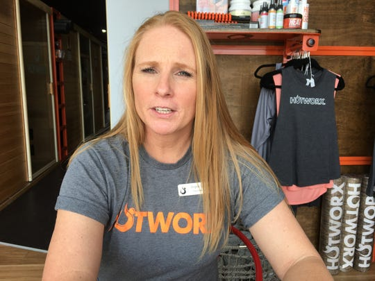 Franchisee Angela Burgess talks about Hotworx at her Montgomery studio.