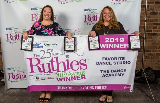 Winners and finalists from the 25th annual Ruthies Awards reception, held Tuesday, Oct. 22, 2019 at DoubleTree Hotel in Murfreesboro.