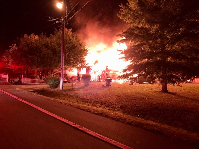 An early morning fire destroyed a home in Murfreesboro on Thursday, Oct. 24, 2019.