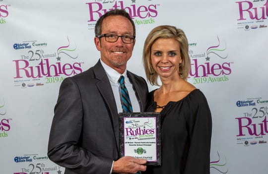 Jeff McCann was voted favorite principal in the 25th annual Ruthies Awards reception, held Tuesday, Oct. 22, 2019 at DoubleTree Hotel in Murfreesboro.