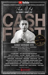 The all-star 'Cash Fest' takes place November 10 at War Memorial Auditorium.