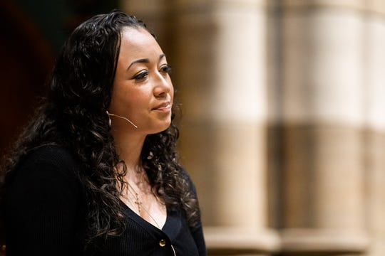 Cyntoia Brown-Long speaks about her memoir, Free Cyntoia, at Christ Church Cathedral in Nashville, Tenn., Wednesday, Oct. 23, 2019.