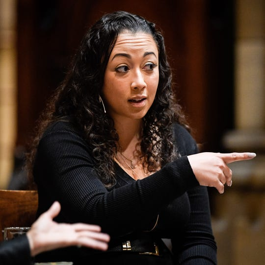 Cyntoia Brown-Long speaks about her memoir at Christ Church Cathedral in Nashville on Wednesday.